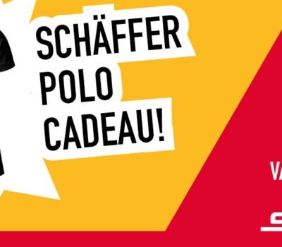 Ontvang een gratis polo bij aankoop van een Schäffer filterset!